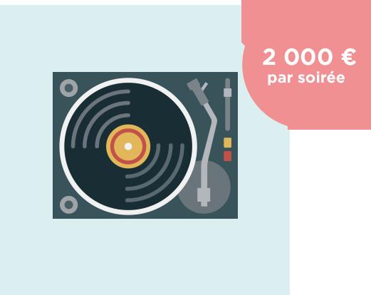 Mise en musique de votre soirée - 2000€ par soirée